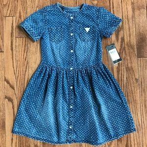 🔥🔥🔥Guess girls denim jean dress size 6x